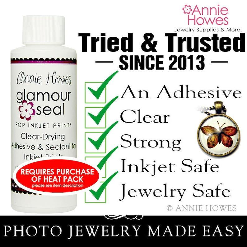 Inkjet Safe Glaze to Make Glass Photo Pendants. Glamour Seal image 0