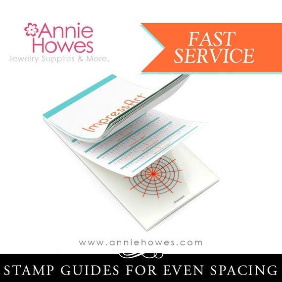 Transparent Grids for Spacing Metal Punch Designs ImpressArt Stamp Guides Booklet