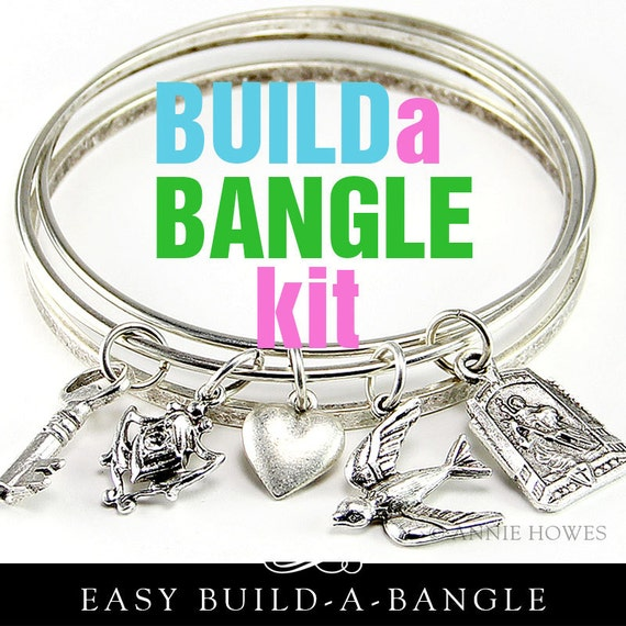 Make Your Own Charm Bracelets: Items Similar To DIY Bangle Charm Bracelet Kit. Make Your