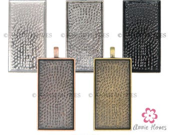 SALE 48X24 Rectangle Pendant Trays. Fits 24X48 Glass. Black Only. 25 Pack. While Supplies Last.