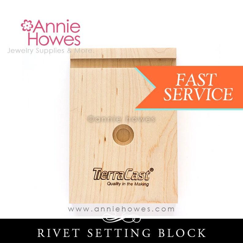 Wood Rivet setting Block. Rivet Setting Block