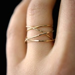 SOLID 14K GOLD Large Wrap ring, 14k gold wraparound ring, wrapped gold ring, gold cocktail ring, wrap around, delicate gold ring, 14k gold