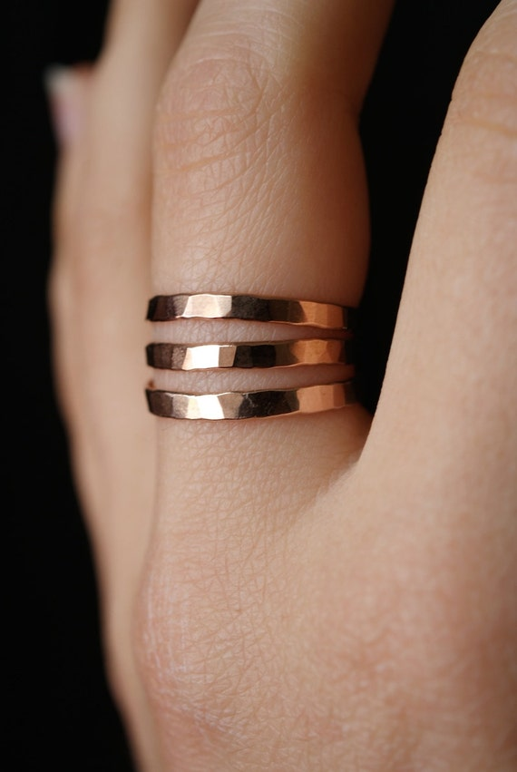 midi rings stacking ring set gold filled 1mm 3 stacking rings minimalist plain band simple rings rose gold silver
