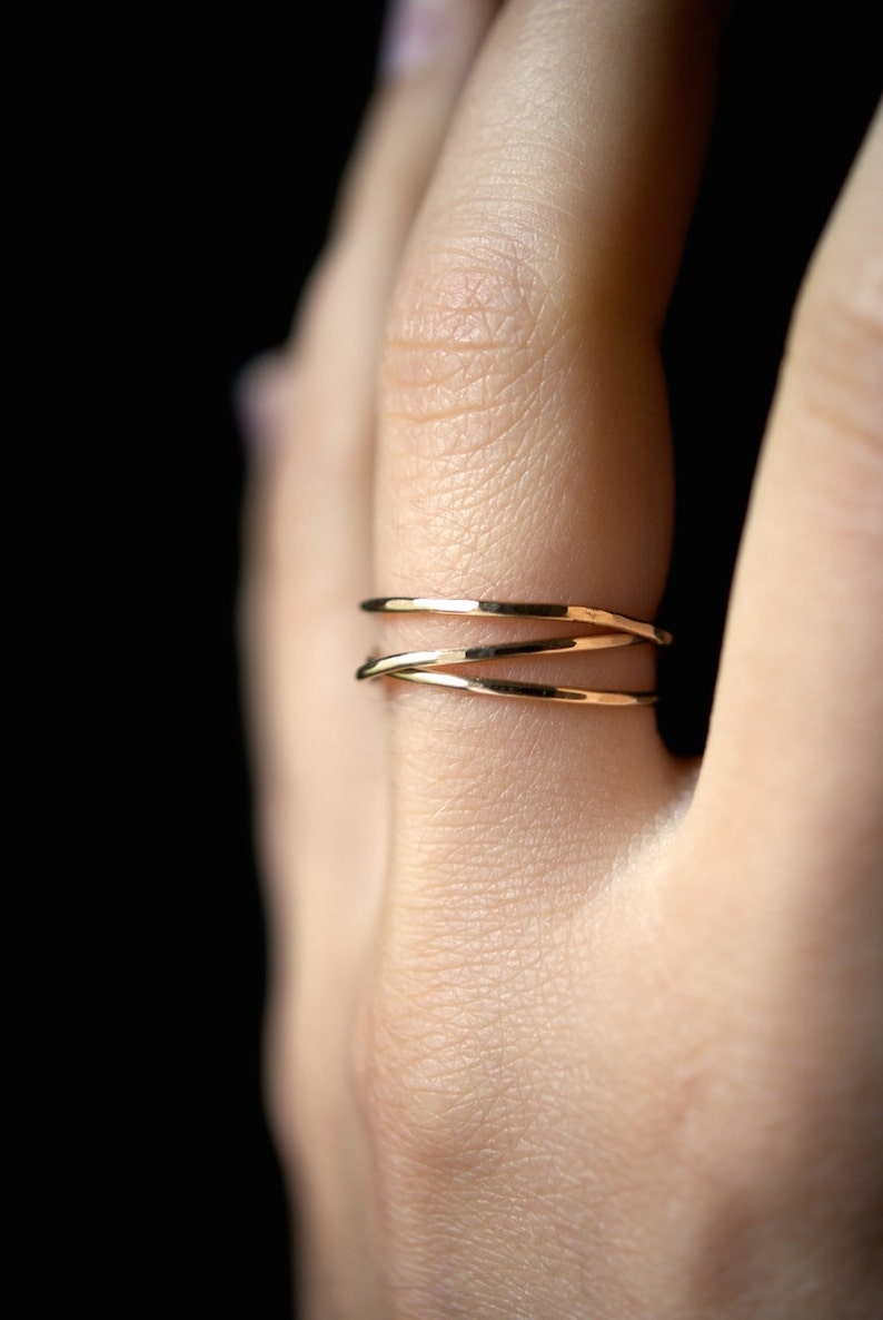 14K Gold Fill Wraparound ring gold fill wrap ring wrapped image 0