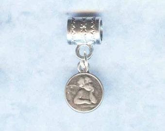 Add a Bead Charm Bracelet Jewelry Silver Lion Rampant Lrg Hole Bead Fits All European