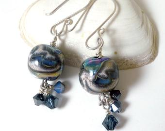 Metalised Lampwork Earrings