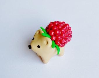Shiny Raspberry Hedgehog Miniature Figure