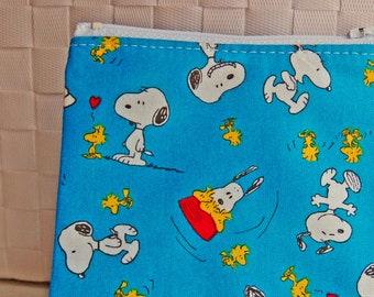 Erdnüsse Snoopy Woodstock-handgemachte kleine Reißverschluss-Etui niedlich ändern Hund Vogel Reißverschluss Tasche Geldbörse
