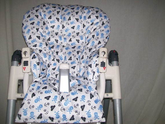 Fantastic Diner And More High Chair Cover In Blue And White Pirates Wipeable See Description Dailytribune Chair Design For Home Dailytribuneorg