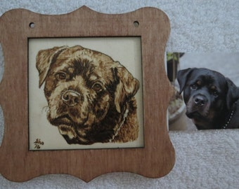 Wood burn Pyro Portraits