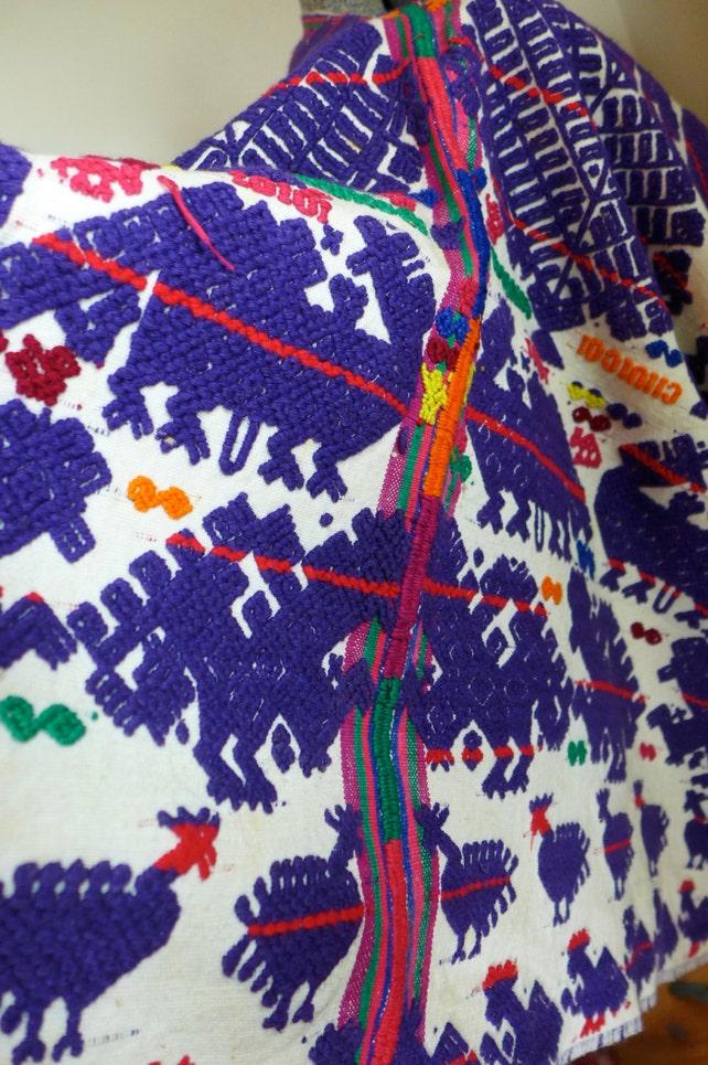 SELTENE guatemaltekischen Huipil Poncho handgewebte Vintage | Etsy
