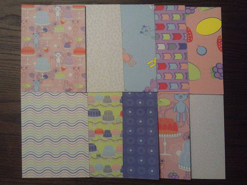 Happy Bear 4x6in Patterned Cardstock for Card Fronts Pocket Page Cards