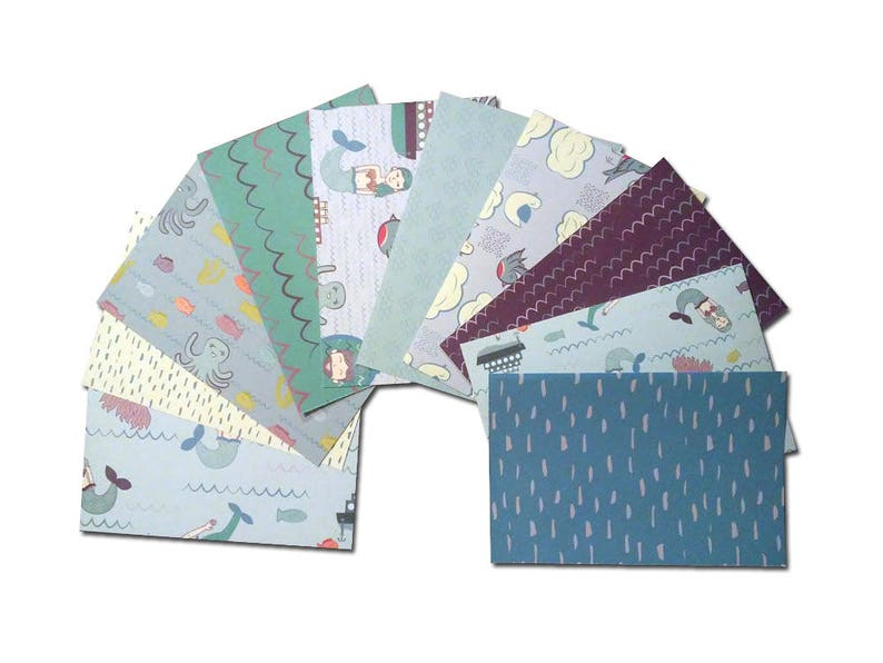 Pocket Page Cards Mermaid 4x6in Patterned Cardstock for Card Fronts