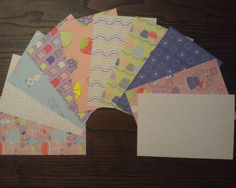 Teddy Bear Cardstock, 4x6 Card Fronts, 4x6 Cardstock, Bear Pocket Page Cards, 4x6 Cardstock, Patterned Paper, Jelly Mold Paper,Fruit Paper