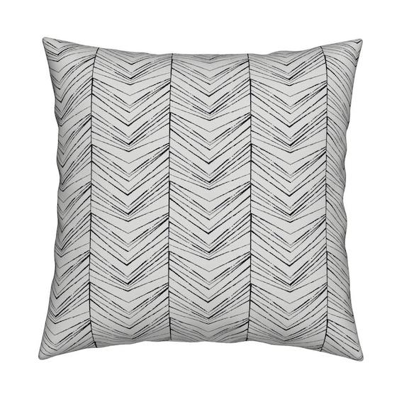 Black and White Pillow Arrow Design