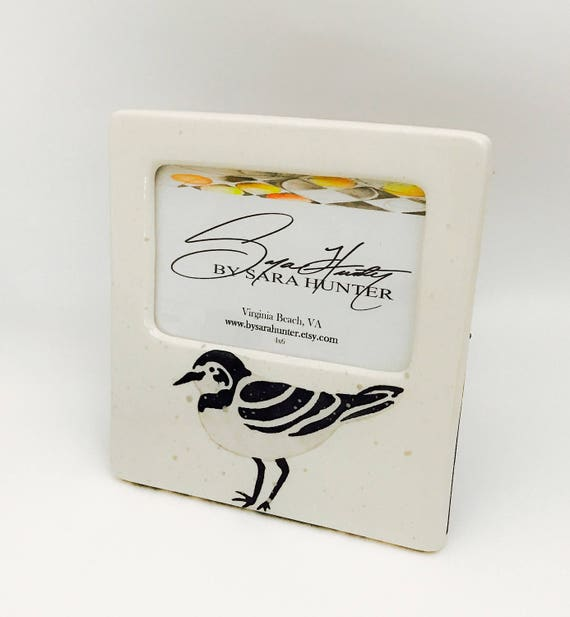 Picture Frame. Sandpiper Picture Frame. Sandpiper. Shorebird. Plover. 4x6. Handmade By Sara Hunter