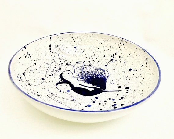 Pasta Bowl. Mermaid Pasta Bowl. Pasta.Dish.Bowl. Lobster. Handmade by Sara Hunter