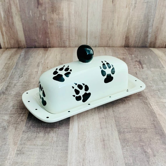 Golden Retriever Doggie Paw Butter Dish. Golden Retriever. Doggie Paw Knobbed Butter Dish. Paw. Butter. Dog. Handmade By Sara Hunter
