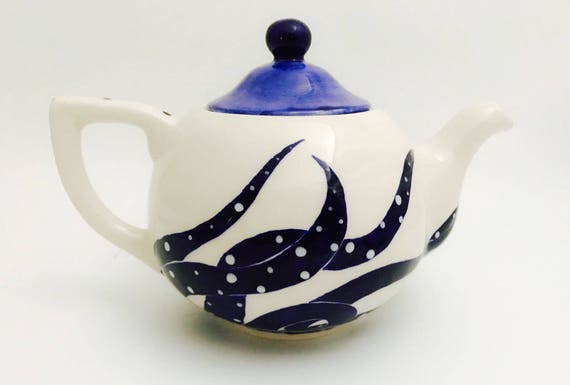 Teapot. Octopus Teapot. Squid. Tea. Coffee. Hot. Chocolate.  Handmade By Sara Hunter
