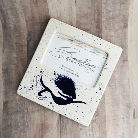 Picture Frame. Mermaid Picture Frame. Mermaid. Sea Life. 4x6. Handmade by Sara Hunter