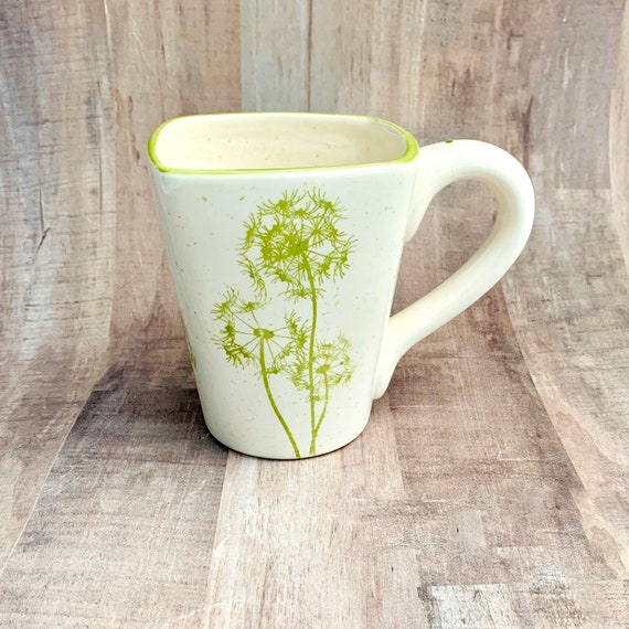 Dandelion Mugs, Dandelion, Coffee, 12 oz, Handmade By Sara Hunter