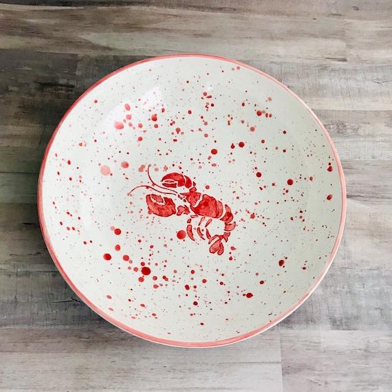 Pasta Bowl. Lobster Pasta Bowl. Pasta.Dish.Bowl. Lobster. Handmade by Sara Hunter