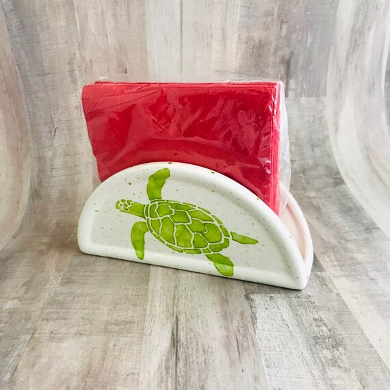 Napkin Holder. Sea Turtle Napkin Holder. Handmade By Sara Hunter