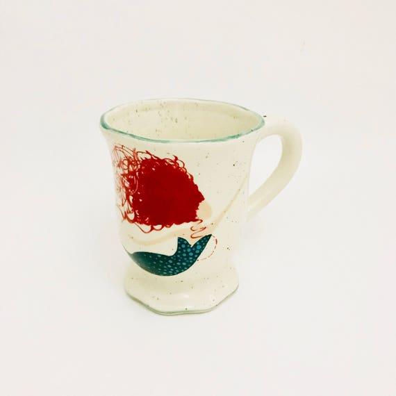 Mugs. Mermaid Mug. African American Mermaid Mug. Caucasian Mermaid Mug. Black Mermaid Mug. Coffee. . Handmade by Sara Hunter
