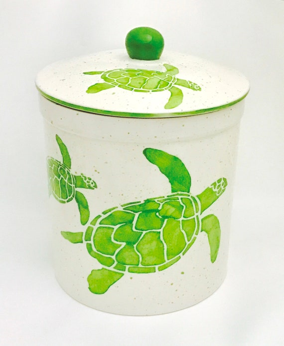 Large Size Canister. Turtle. Lobster. Mermaid. Crab. Octopus. Sand Dollar.  Sandpiper. Canister Set. Whimsical. Housewarming. Wedding.