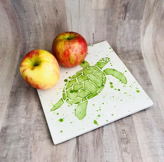 Trivet. Ceramic. Turtle Trivet. Turtle. Pot Holder, Housewarming Gift. Wedding Gift. Handmade By Sara Hunter