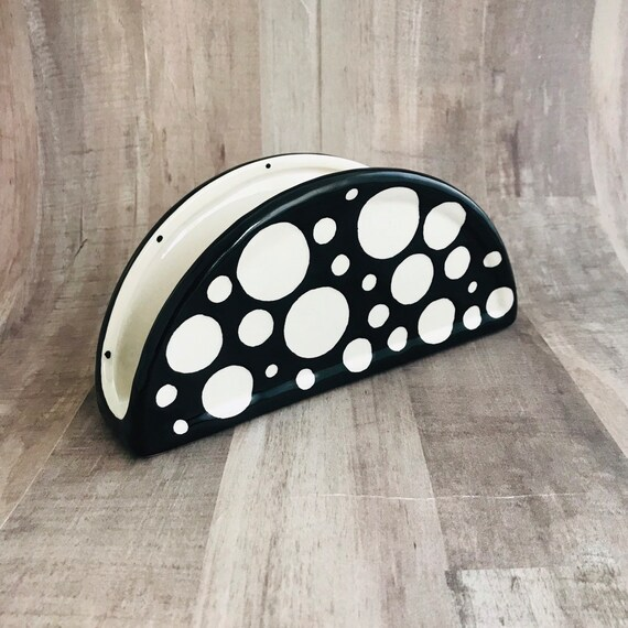 Napkin Holder. Solid Dot Napkin Holder. Handmade By Sara Hunter