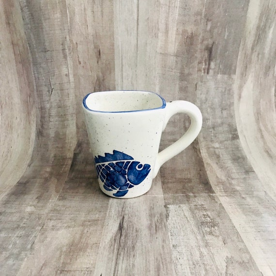 Fish Mugs, Sea, Fishes, Coffee, 12 oz, Handmade By Sara Hunter