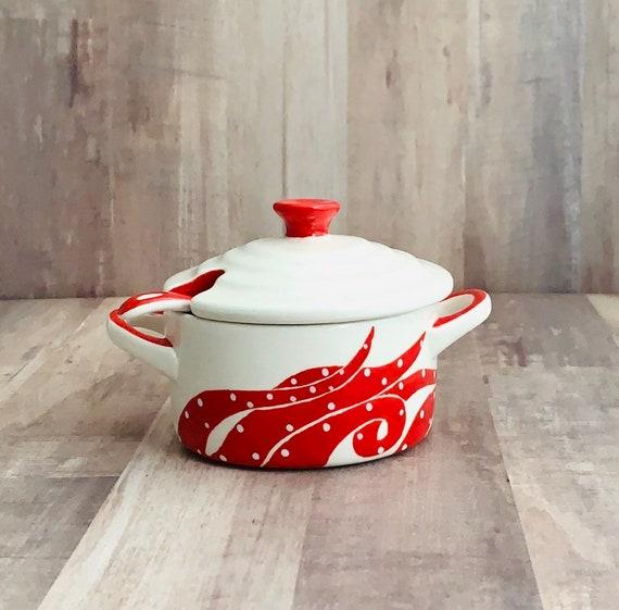 Octopus Salt Cellar. Octopus. Salt. Salt Pig. Sugar Bowl. Handmade by Sara Hunter