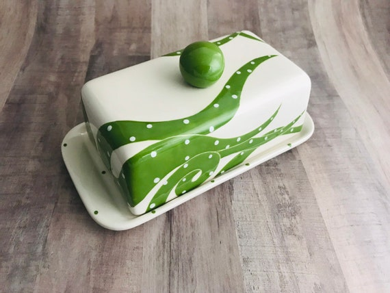 Butter Dish.Octopus. Cephalopod.Knobbed Double Butter Dish.Ocean.Kerrygold. Butter. Double Butter Dish. Handmade by Sara Hunter