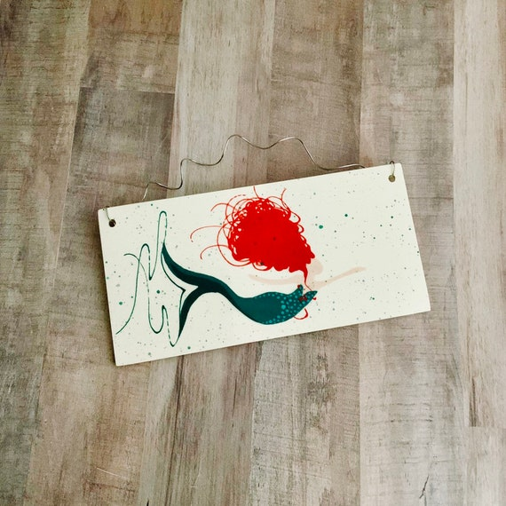 Mermaid Wall Plaque. Home Decor. Kitchen. Housewarming. Mermaid. Handmade by Sara Hunter