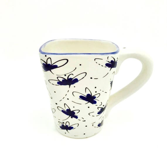 Mugs. Dragonfly Mug. Dragonfly. 12 oz. Handmade by Sara Hunter