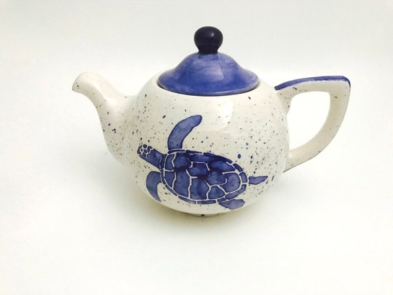 Tea Pot. Turtle.Tea Pot. Tea. Pot. Coffee. Hot. Chocolate. Handmade By Sara Hunter