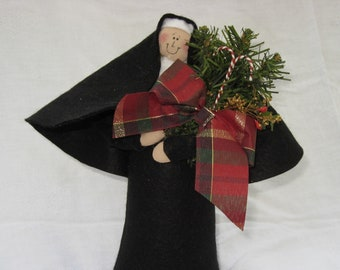 Novelty Nun Doll, Christmas decor, fun holiday decor, cute Catholic gift, collectible doll, holiday ornament, Sister Mary Christmas