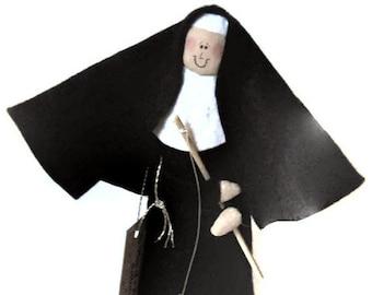 "Nun doll Catholic gift Fishing nun doll 'Sister Holy Mackerel"""