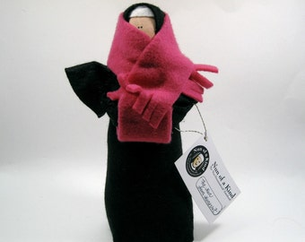 Funny Nun doll, Nun doll from Nunavut, cold weather Nun doll, woman with scarf, Catholic humour figure, cold weather , the Nun from Nunavut