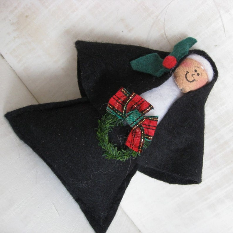 Pack of two Nun doll Christmas ornaments  nun with image 0