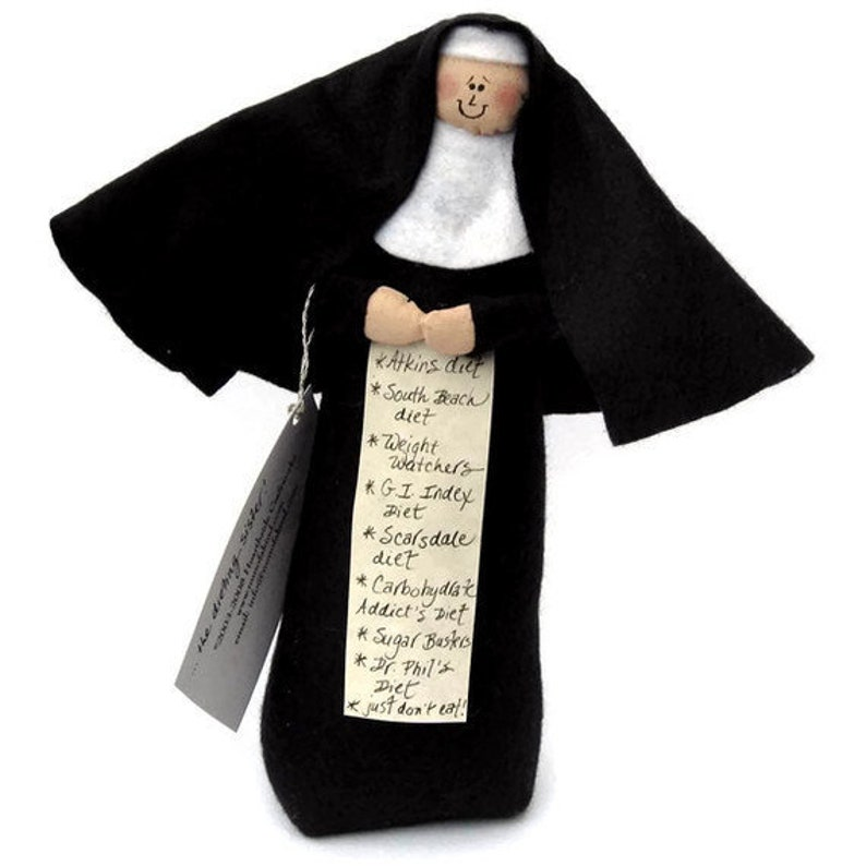 Nun doll dieting sister Catholic gift gift for dieter image 0