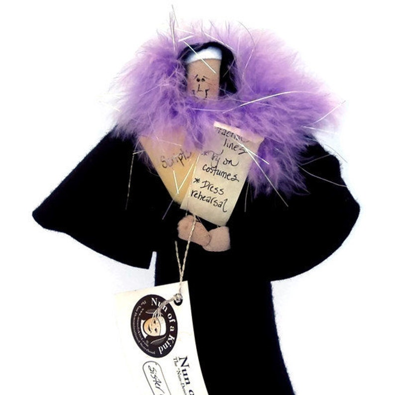 Funny Nun doll theatrical woman actress figure woman with image 0