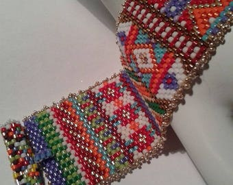 Sweater Weather Peyote Beaded Bracelet
