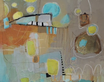 Modern abstract print for the contemporary home by Jodi Ohl  2 size options