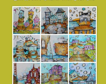 Online  Workshop E-Course - acrylic painting class with Jodi Ohl