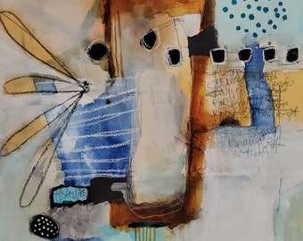 Soft, neutral abstract  print,  for the contemporary home by Jodi Ohl  2 size options