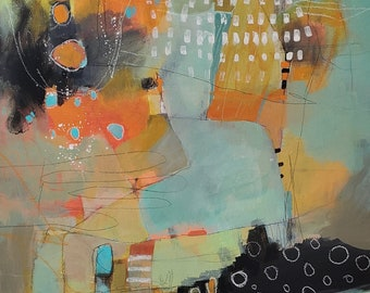 Striking abstract print for the contemporary home by Jodi Ohl  2 size options