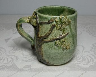 Acorn House Under an Oak Tree Mug - Wheel-thrown, Sculpted Stoneware
