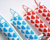 Retro modern love heart valentine toy dog plush by Jane Foster